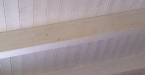 Tetto in legno sbiancato